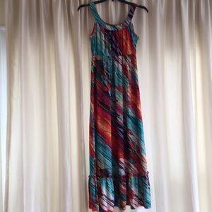 Fashion Bug colorful sleeveless maxi dress size L